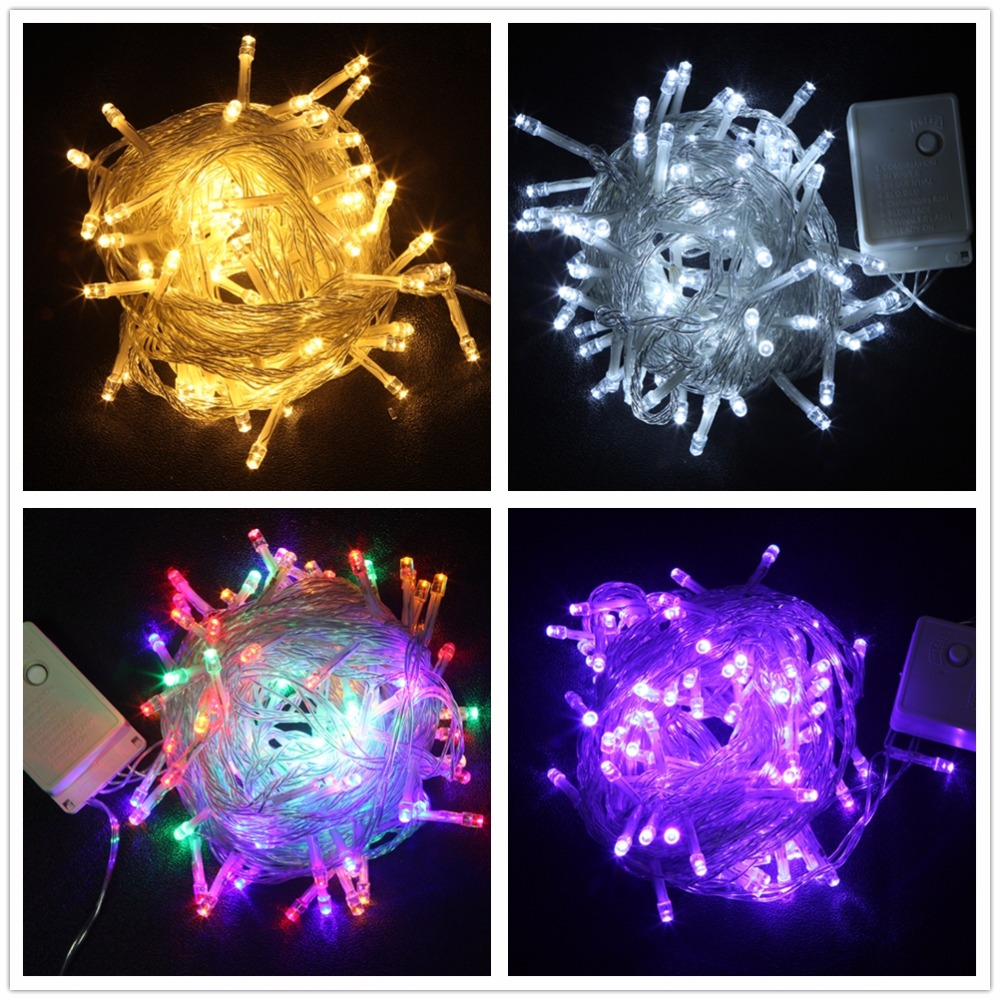 Christmas Tree Indoor Lights: 20M 200LED String Lights 8 Modes Waterproof Christmas