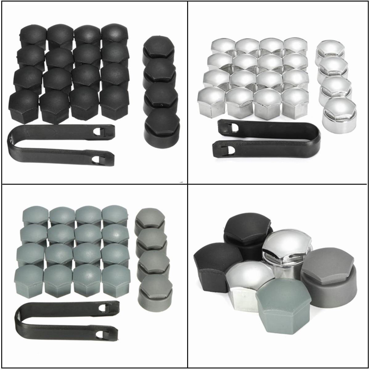20pcs Set 17mm Wheel Lug Nut Center Cover Caps Bolt Nut