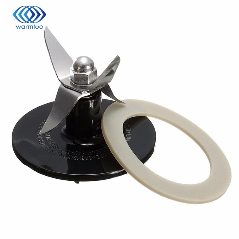Juicer Cutter Blender Blades  Replacement Blender Blade SPB-456-2B BLACK + Sealing Ring Gasket Black Stainless Steel