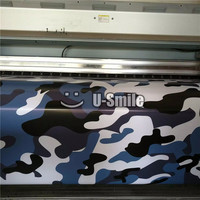 Urban Blue Large Camouflage Car Wrap Film Decal Bubble Free For JEEP SUV TRUCK