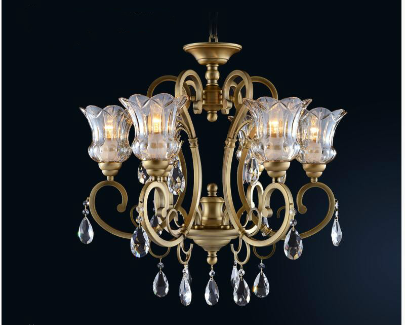 Free Shipping Crystal Chandelier Bronze Hanging Lamp Luxurious European E14 AC LED Brass Crystal Lamp Lustre Suspension LightingFree Shipping Crystal Chandelier Bronze Hanging Lamp Luxurious European E14 AC LED Brass Crystal Lamp Lustre Suspension Lighting
