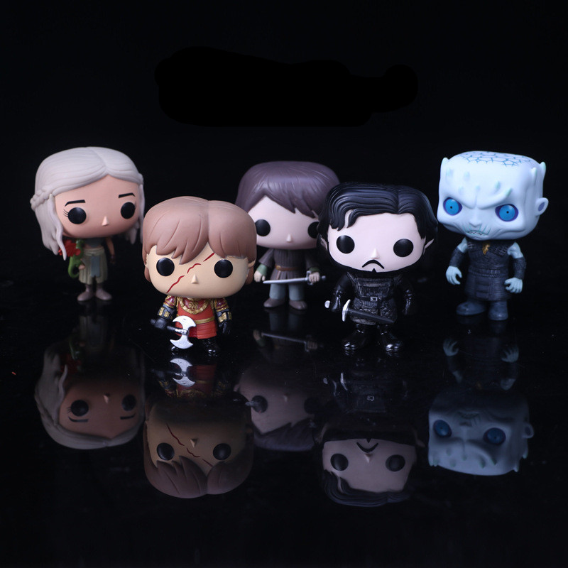 Hot Movie Game Of Thrones Jon Snow Daenerys Tyrion Ghost all kinds of Action Figure toys Model Gift Doll game of thrones jon snow wigs black curly synthetic hair