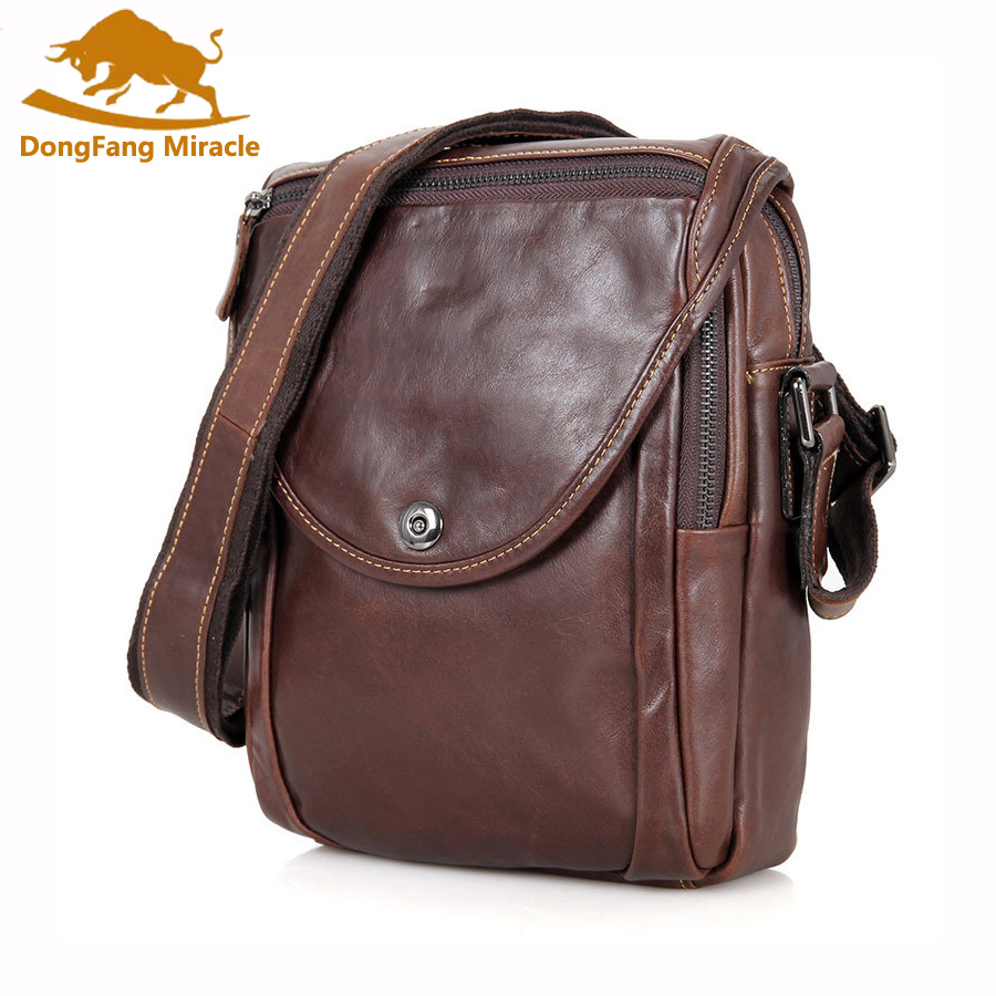 Casual Men Genuine Leather Bag Natural Cowskin Men Messenger Bags Vintage Men's Cowhide Shoulder Crossbody Bag Small