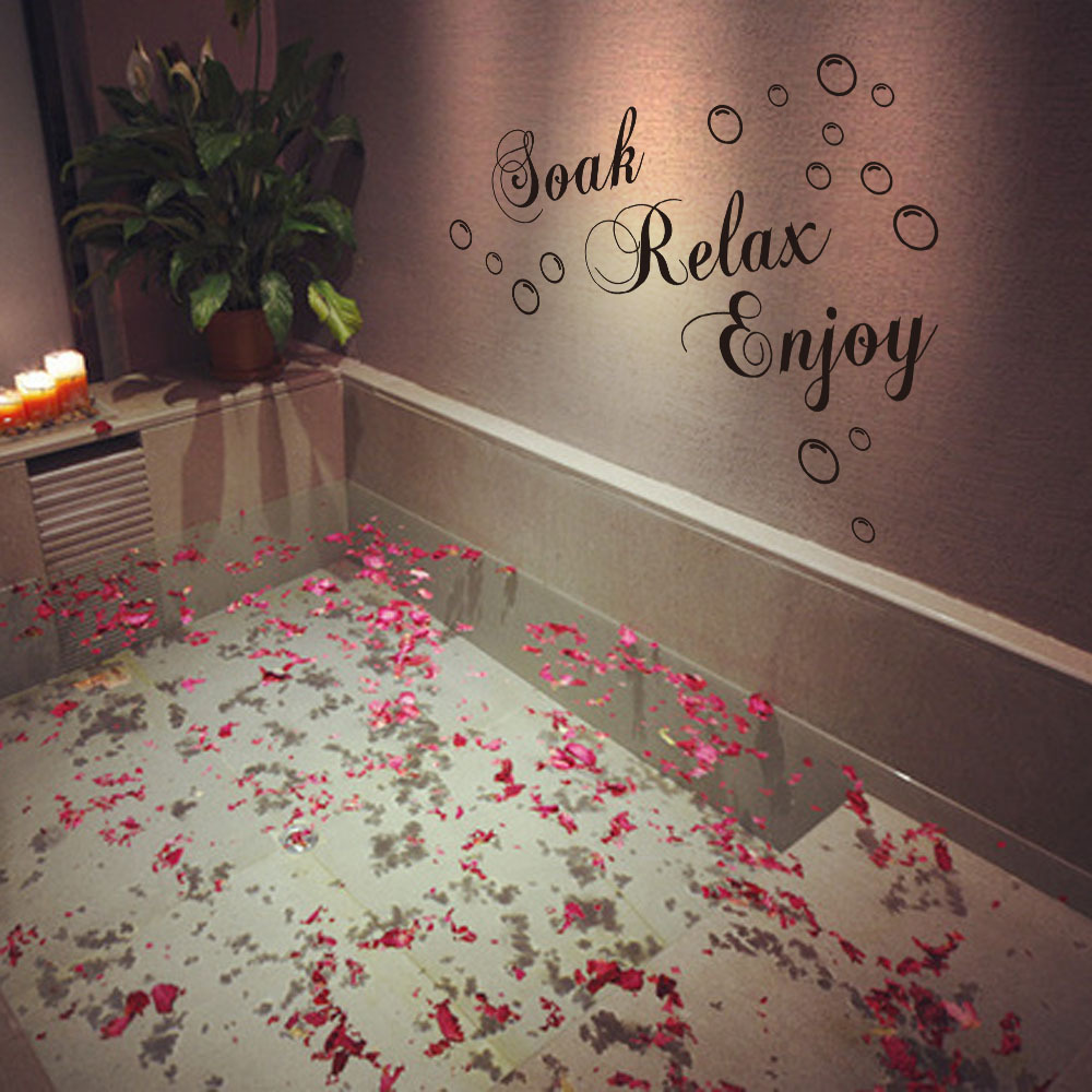 Soak Relax Enjoy Bubbles Bathroom Wall Stickers DIY Vinyl Decals - How to make vinyl decals