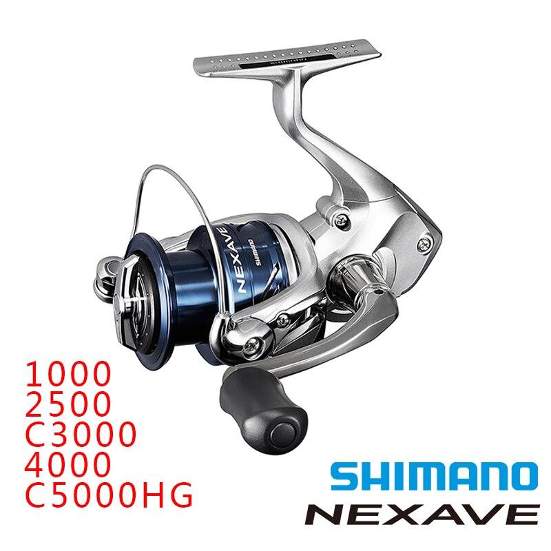 Shimano 2018 spinning wheel NEXAVE 1000 2500 C3000 4000 C5000HG Spinning Saltwater 4BB 5 0 1