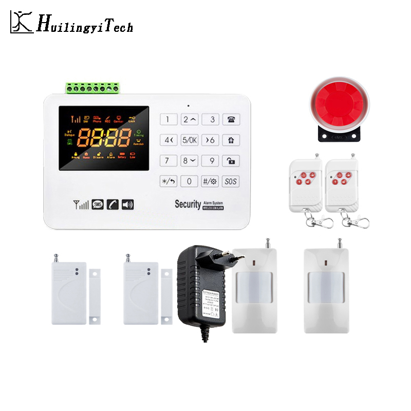 Home GSM Alarm System Wireless House Burglar Security Alarm System DIY Kit Motion Detector Door Open Sensor Security Home Alarm