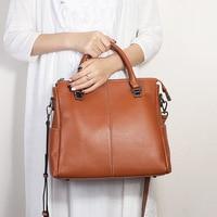 2019 Women Genuine Real Leather Large Tote Purse Shoulder Messenger Crossbody Bag Fashion Handbag Vintage Daily Casual Designer