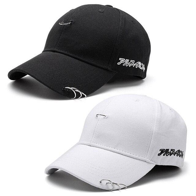 Moda Unisex Solid sombreros anillo Hip Hop curvado Strapback gorra de béisbol  hombres mujeres Snapback Gorras 23c1f5902a6