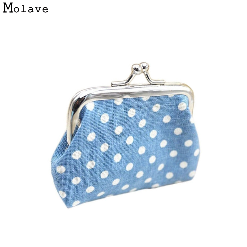 Naivety Coin Purse New Fashion Dot Lady Mini Linen Card Holder Case Woman Clutch Bag JUL4 drop shipping