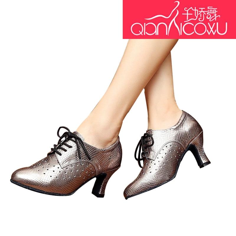 Chaussures de danse latine argent femme adulte à talons hauts printemps et été Baotou amitié carré chaussures de danse moderne fond souple 7048