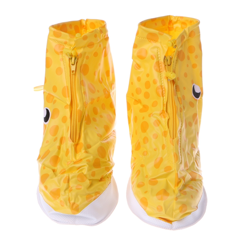 Children Reusable Waterproof Raining Boots Shoes Cover Girl Boys Yellow New Shoes Covers Wear Proof Anti Slip 2017 M/L/XL size kelme 2016 new children sport running shoes football boots synthetic leather broken nail kids skid wearable shoes breathable 49