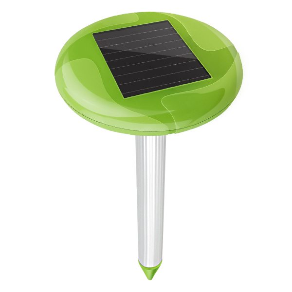 Free Shipping 2X Aosion Garden Solar Power Snake Mole Pest Repeller Control with Bright Light waterproof IPX4 outdoor AN A316FS-in Repellents from Home & Garden    2