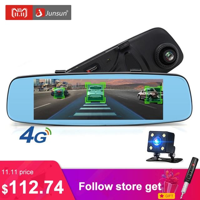 """Junsun A880 4 г ADAS зеркало автомобиля DVR Камера 7.86 """"Android 5.1 зеркало заднего вида с DVR и Камера видеорегистратор регистратор 16 ГБ"""