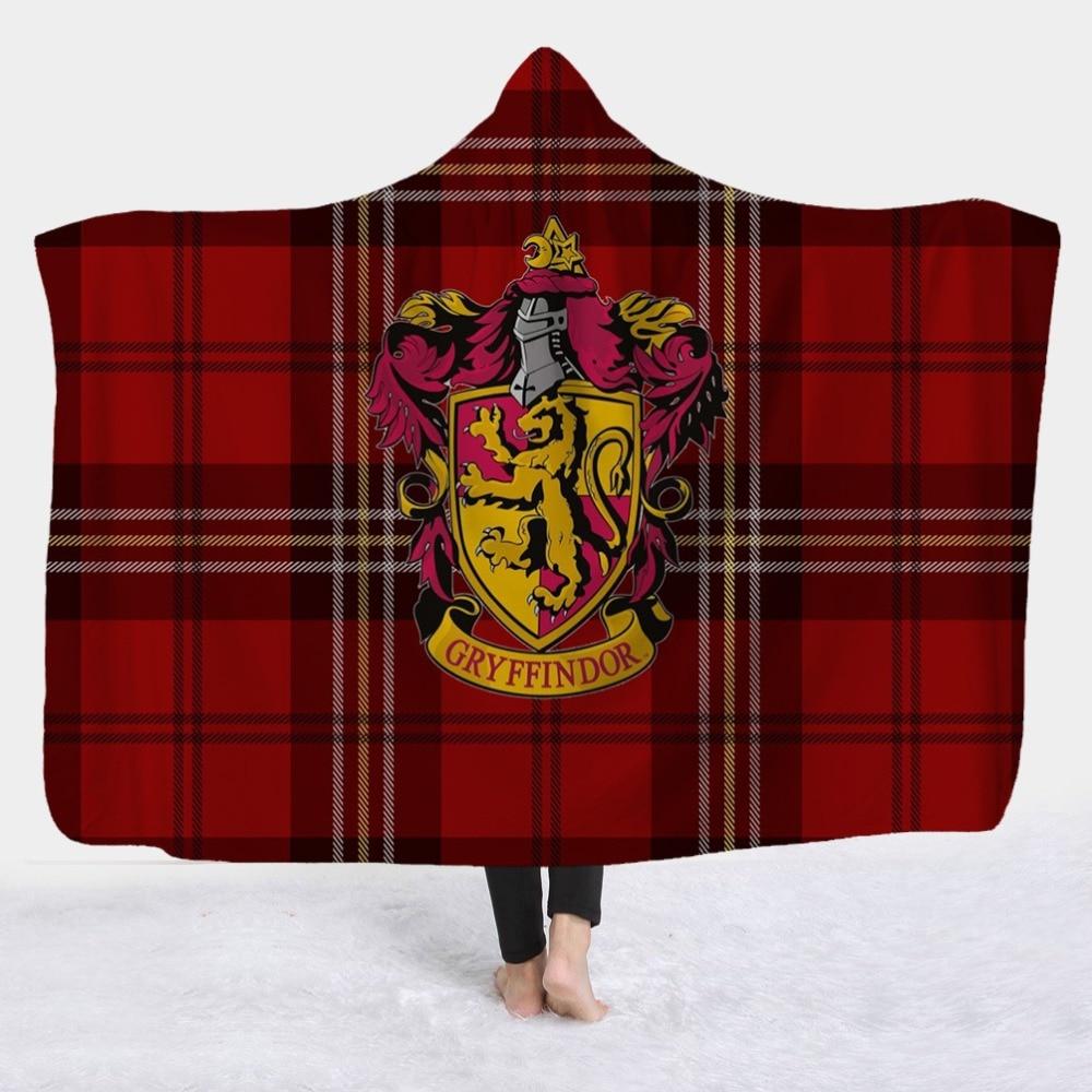 3D Hogwarts School Ravenclaw Tartan Crest Blanket Printed Fleece Plush Throw ...