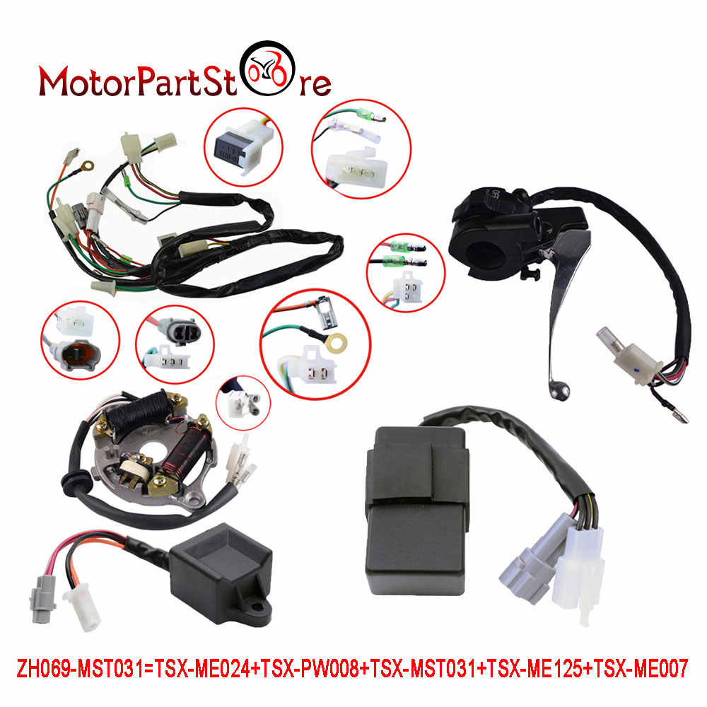 For YAMAHA PW50 Wiring harness Ignition Switch CDI Unit ... on