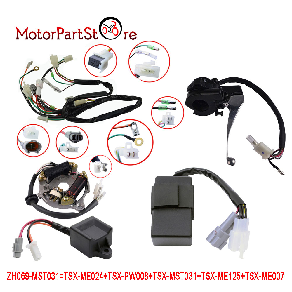 For Yamaha Pw50 Wiring Harness Ignition Switch Cdi Unit