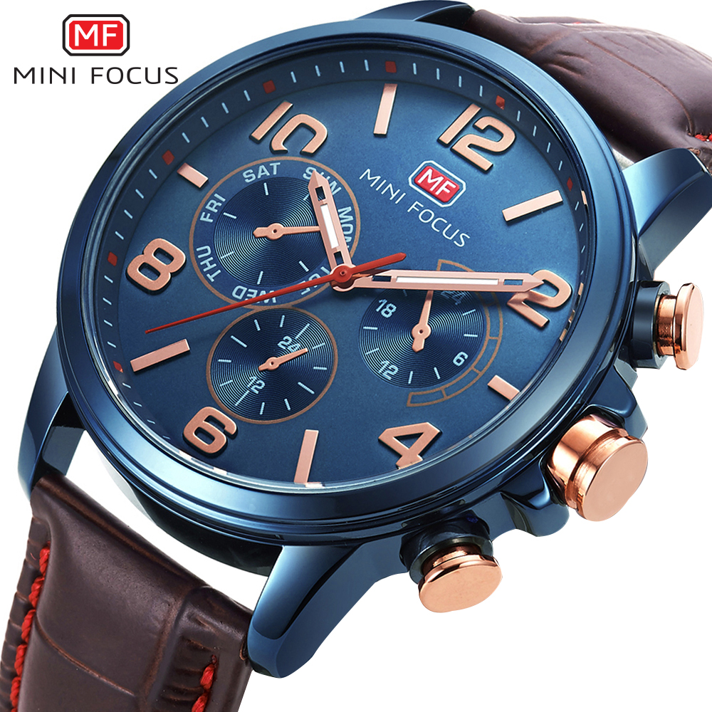 MINI FOCUS Wrist Watch Men Top Brand Luxury Famous Male Clock Quartz Watch Wristwatch Quartz-watch Relogio Masculino MF0001G.04