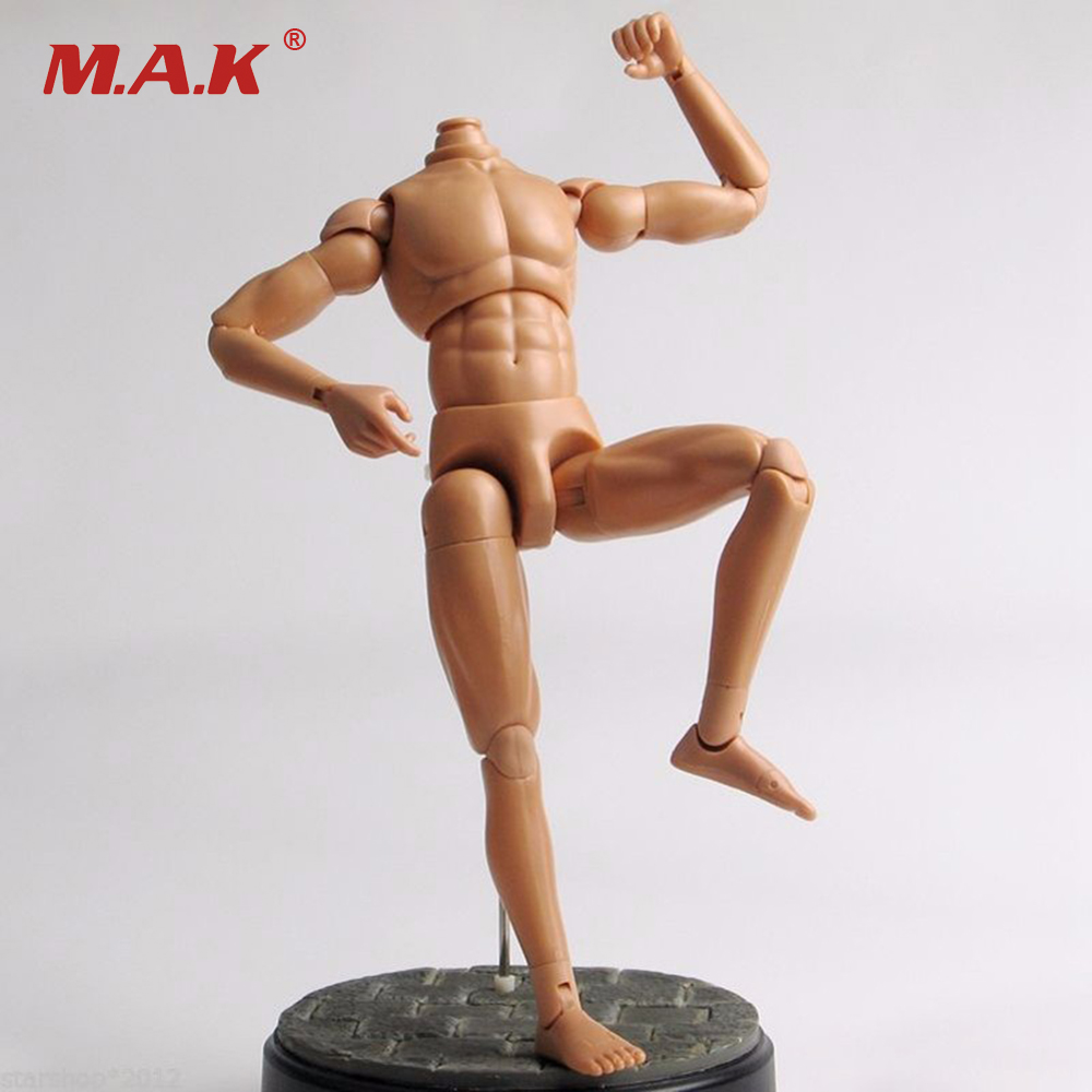 12 Figure Action Dragon Nude Muscle Man Body Figure Soldier Model Toy 1/6 Scale 2pcs 1 6 scale dragon dml toys wwii gray soldier forward hat cap model toy dolls military fit 12 inch action figure accessories
