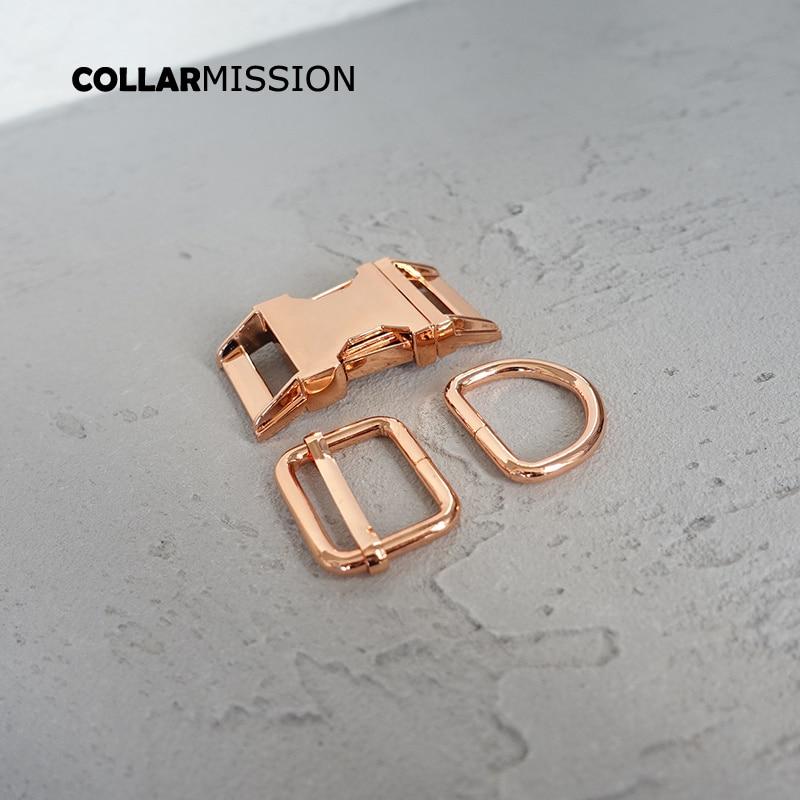 (metal buckle+adjust buckle+D ring/set) 25mm diy dog collar accessory durable and strong hardware Kirsite slider 6 kinds