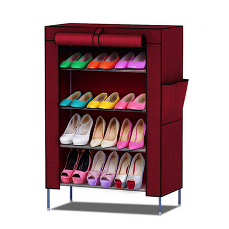 Shoe racks Non-woven fabrics furniture Shoe cabinet shoe storage mueble zapatero shelf for shoes living room furniture portable shoe racks folding multilayer non woven fabric combination dustproof shoes shelf