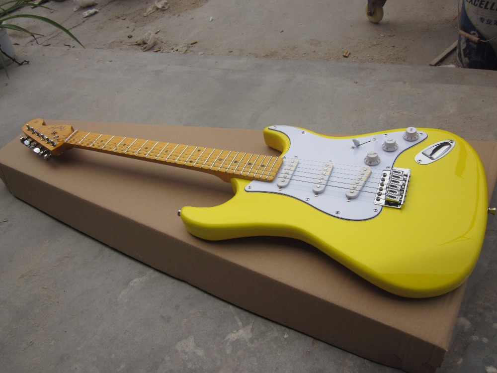 Stringed Instruments Free Shipping Wholesale New Fen St Electric Guitar/yellow Guitar With Maple Neck/guitar In China Sports & Entertainment