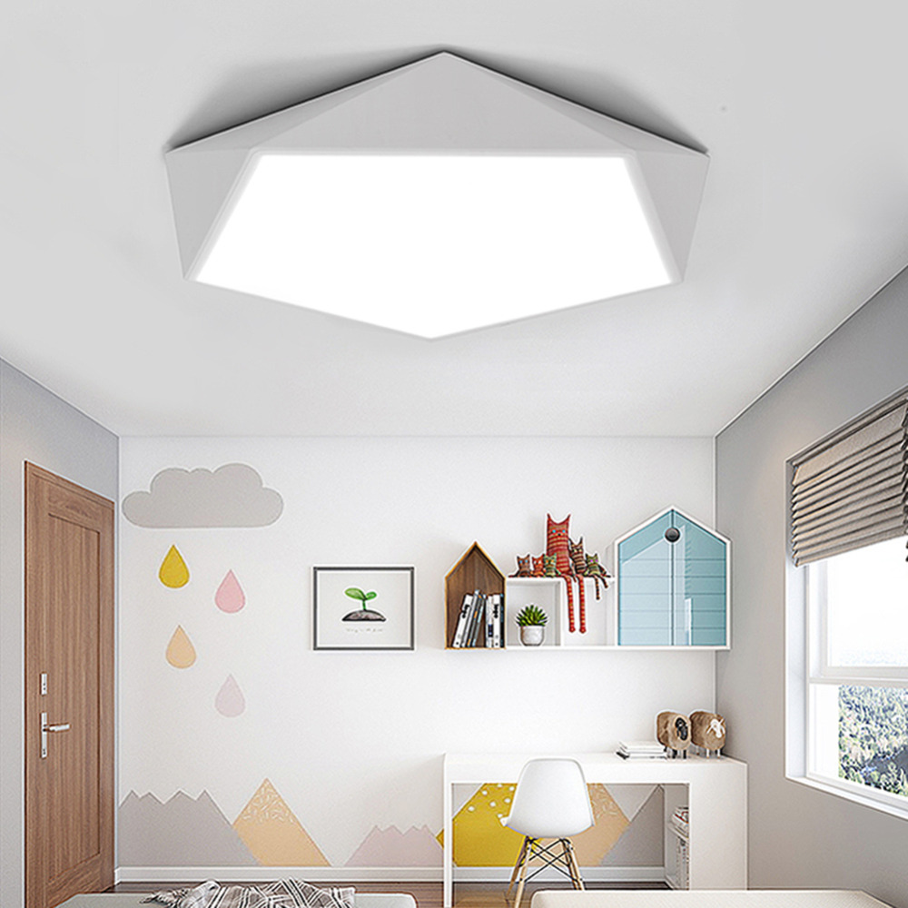 LED Ceiling Lamps Design Creative Geometry luminaria Living Room Aisle balcony lamp plafond chambre Dimmable Ceiling Lighting