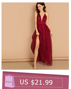 6ba7953ea20 COLROVIE Belted Criss Cross Back Cut Out Sexy Red Dress Women ...