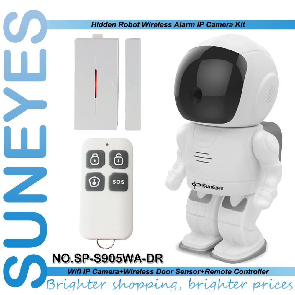 SunEyes SP-S905WA-DR 1.3MP 960P HD Smat Robot IP Camera  with Magnetic Door Sensor Remote Control Alarms Surveillance Camera