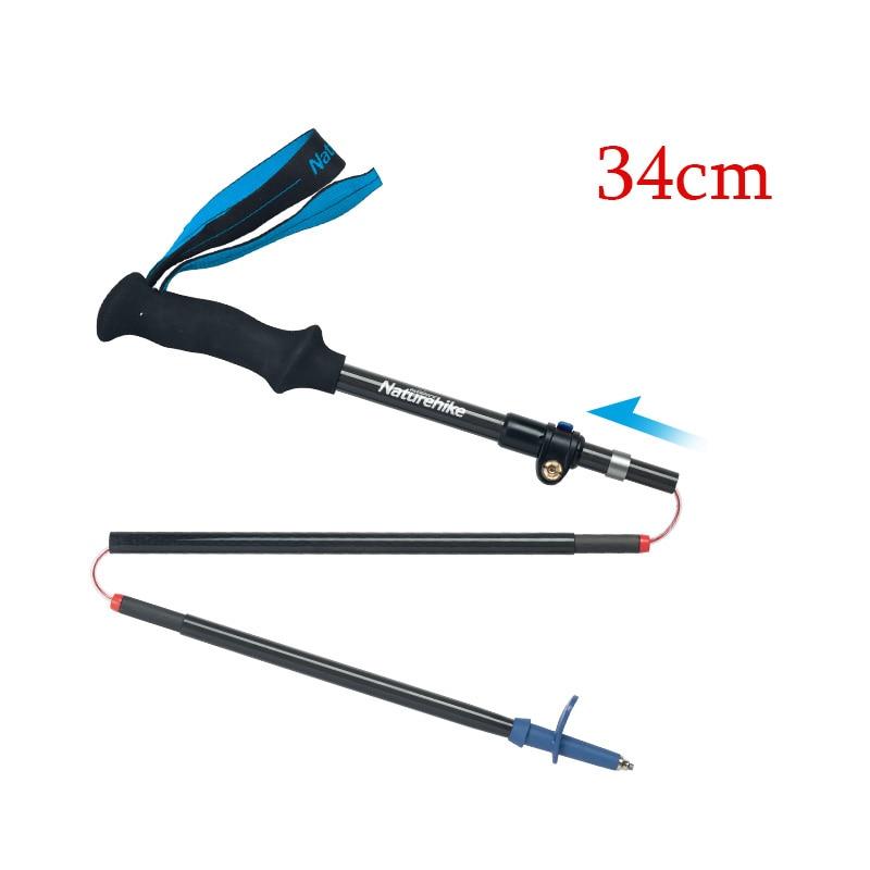 Naturetrekking pliant 34 cm pôles ultraléger pliable réglable Trekking fibre de carbone marche randonnée bâton pour femmes hommes 98-135 cm