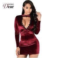 RJ80206 Autumn Sexy Halter Knitted Dress Women Elegant Bodycon Dress Black Wine Red Vestidos Short Sweater