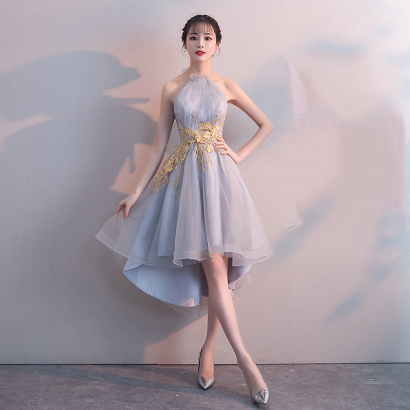 Cocktail Party Mini Dress Female 2019 New Dress Party Lantern Xiaoxiangfeng Sexy Short Party Thin Dress