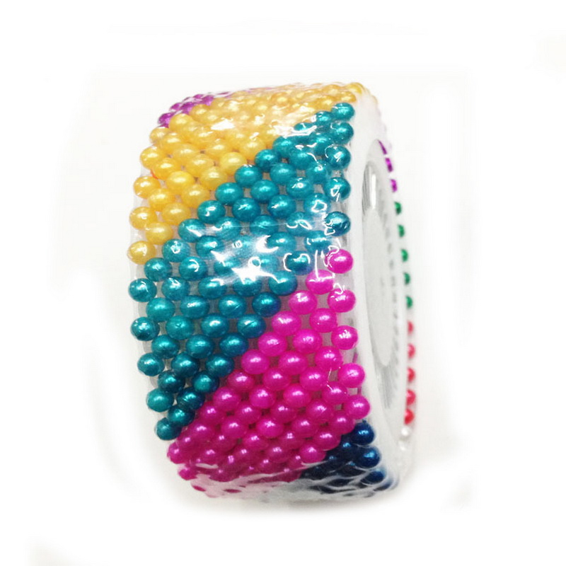 Купить с кэшбэком 480pcs 36MM Colorful Round Head Decorative Dressmaking Straight Head Pearl Sewing Marker Pin DIY Crafts Tool Accessories
