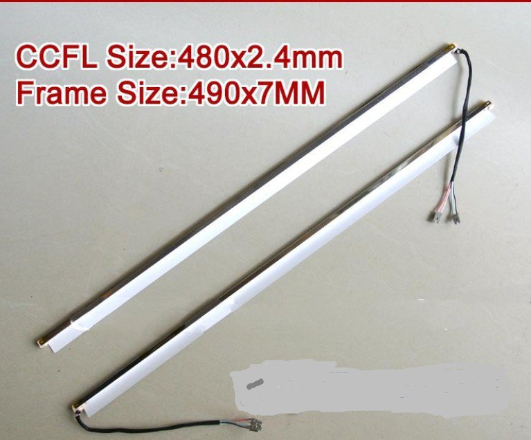 2PCS 22'' inch wide dual lamps CCFL with frame LCD lamp backlight with housing CCFL with cover CCFL:480mmx2.4mm FRAME:490mmx7mm title=