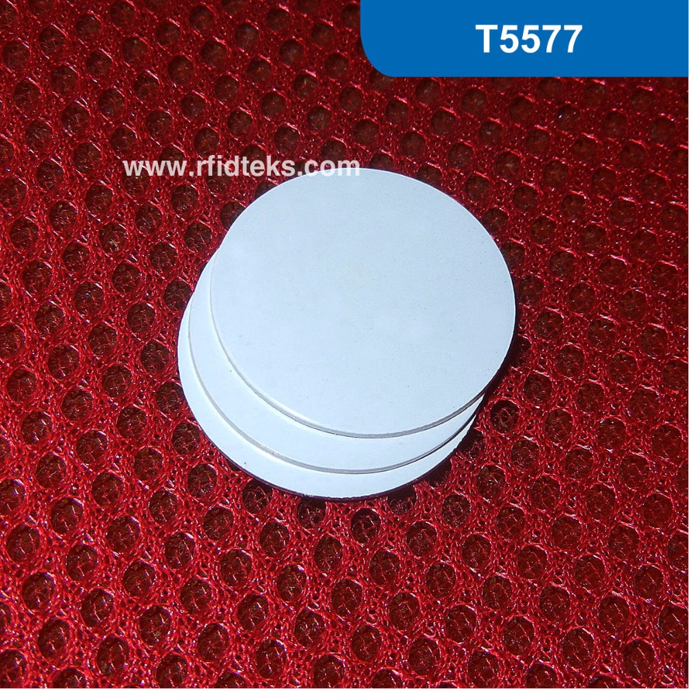 CT Dia 25mm RFID Tag for access control, RFID PVC Token for asset management, RFID Smart tag 125KHz with T5577 Chip corporate real estate asset management