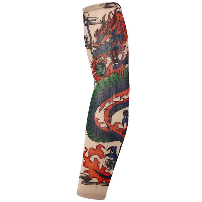 1PC Chinese Dragon New Fashion Tattoo Sleeves Arm Warmer Unisex Outdoor UV Protection Temporary Fake Tattoo Arm Sleeve Warmers