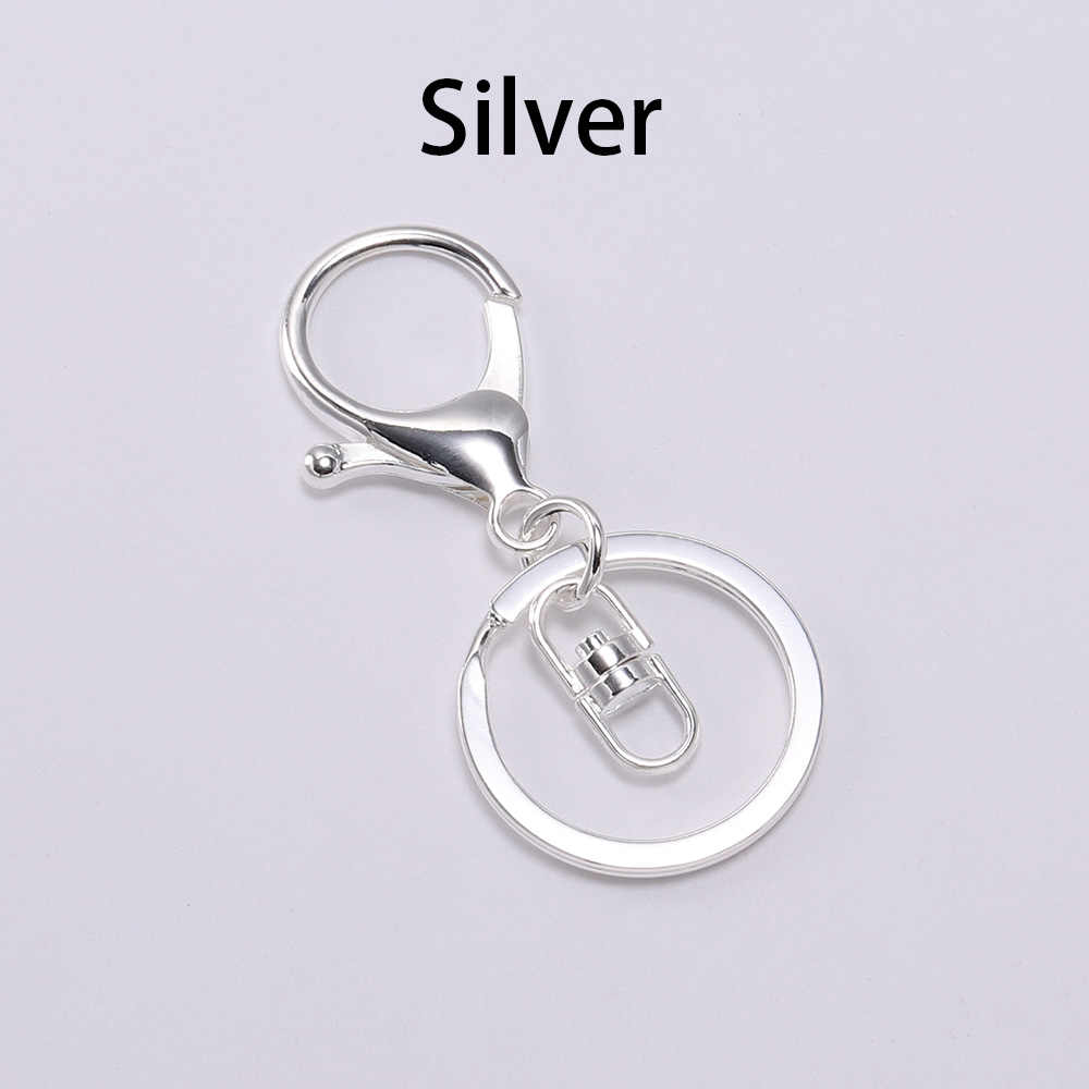 Topxome 30mm Alloy Key Rings Keychain Round Jewelry Findings 10pcs//lot Wholesale Candy Color randome