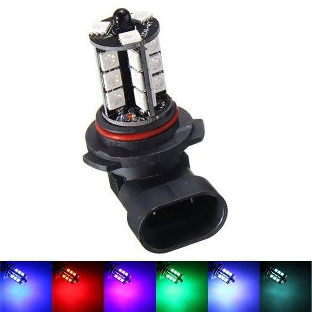 2x 9050 5050 LED 27 SMD RGB Car Headlight Fog Light Lamp Bulb + Remote Control