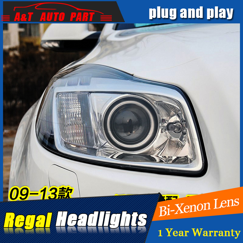 A&T Car Styling For Buick Regal headlights For Opel Insignia LED head lamp Angel eye led DRL front light Bi-Xenon Lens xenon HID