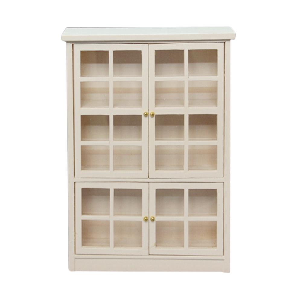 1/12 Doll House Accessories Model Double-layers Storage Cabinet Bookcase