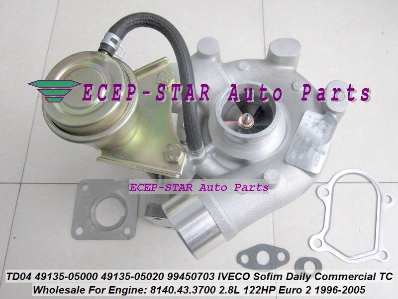 TD04 49135-05000 49135-05020 99450703 Turbo Turbocompresseur Pour IVECO Sofim Commerciale Quotidienne TC 49.12 59.12 60.12 8140.43.3700 2.8L