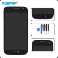 Bleu Pour Samsung Galaxy S4 Mini i9190 i9195 LCD Affichage à L'écran Tactile Digitizer Assemblée avec Lunette Cadre Remplacement + Outils