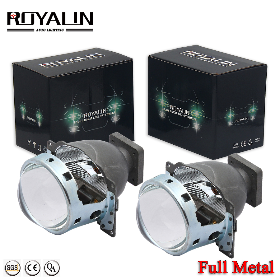 ROYALIN Car Bi Xenon Projector Headlights For Q5 Koito D1S D2S D3S D4S HID Lamps Lens 3 Inch 35W LHD Lights Retrofit