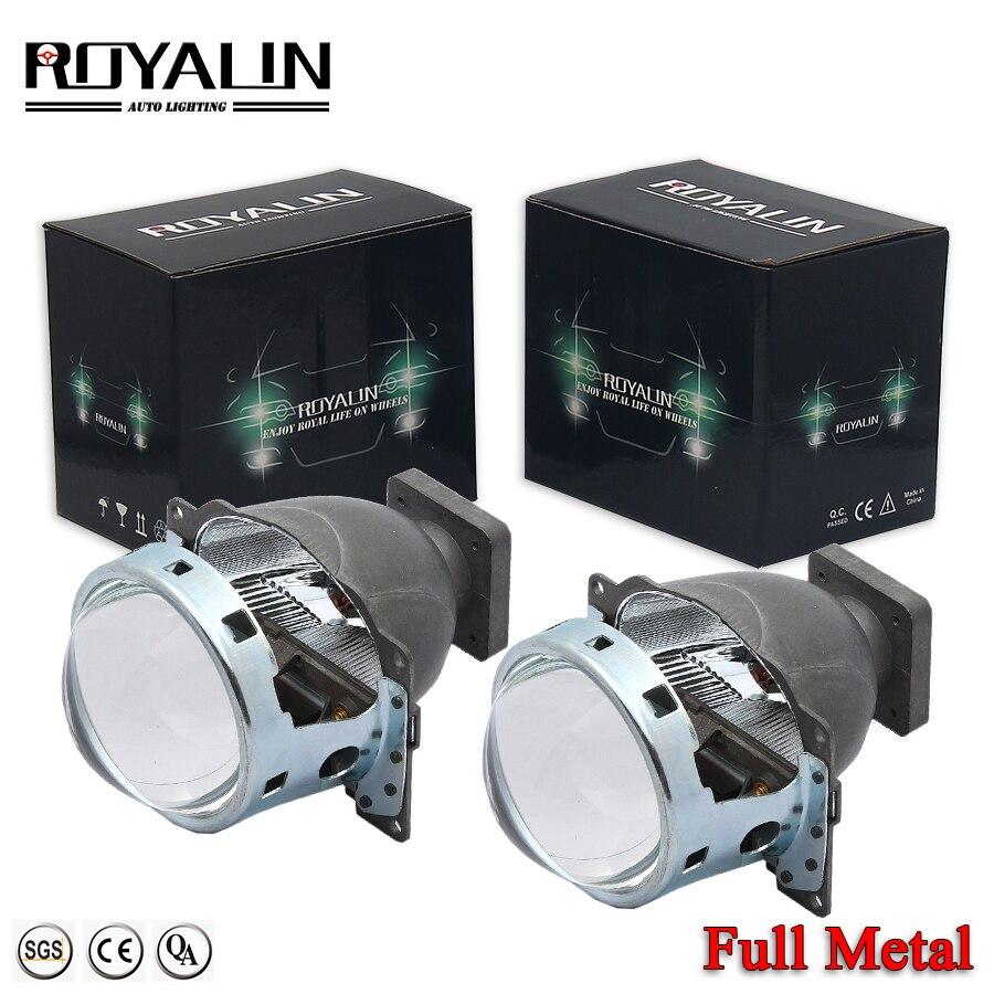 ROYALIN voiture Bi xénon projecteur phares pour Q5 Koito D1S D2S D3S D4S HID lampes lentille 3 pouces 35W LHD lumières rénovation