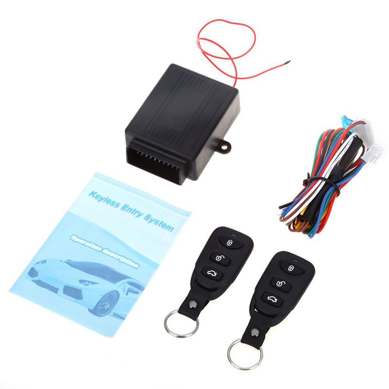 Universal Car Auto Remote Central Kit Door Lock Locking Vehicle Keyless Entry System New With Remote Controllers Car Alarm Sys