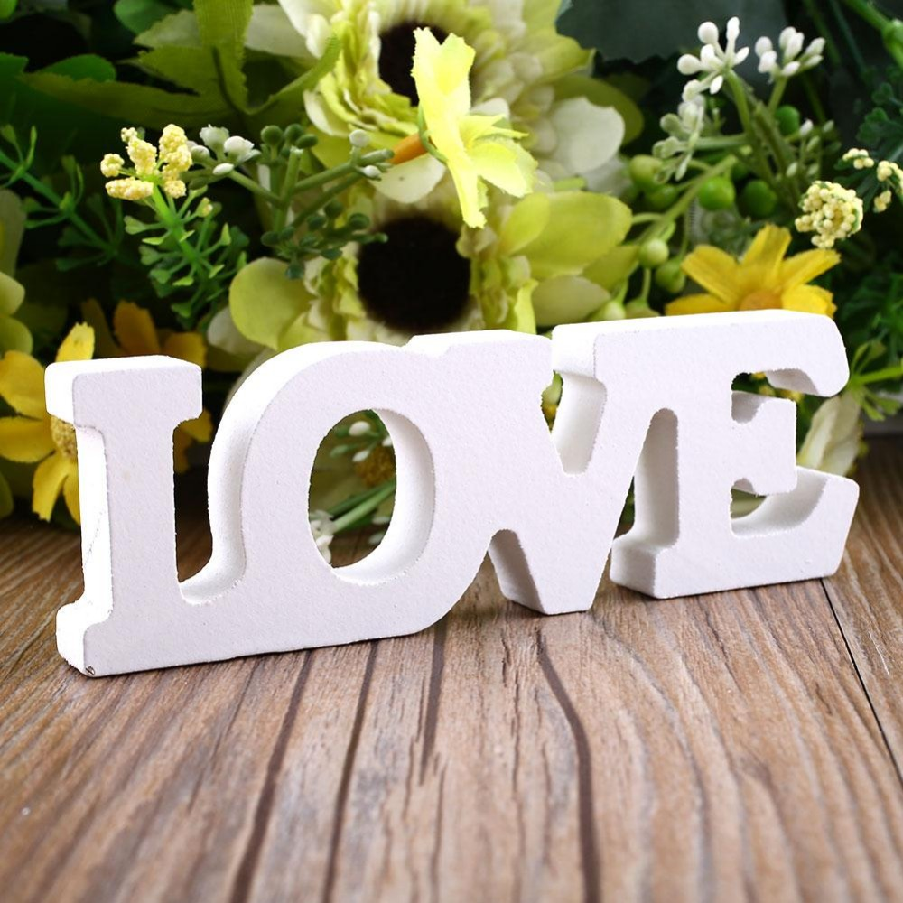 Wooden Letter Free Standing Decoration Weeding Party Decor Love Theme Miniature Letras De Madera Home Decoration Accessories In Figurines Miniatures From