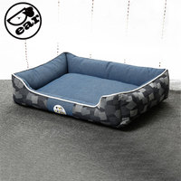 NEW Hot 2 Sizes Dog Beds Denim Jeans Pets House Cartoon Style Puppy Dogs Beds For