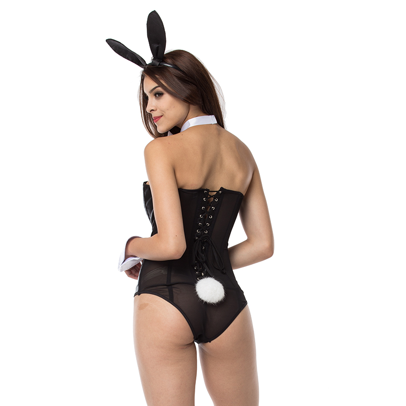 f5afaaa94 Black/White Club Halloween Sexy Bunny Costume Plus Size Sexy Rabbit  Lingerie Teddy Bodysuit Cosplay Carnival Costumes For Adult-in Sexy Costumes  from ...