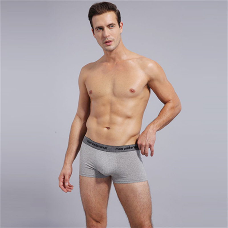 1pcs Shanboer Male Panties Cotton Men's Underwear Boxers Breathable Man Boxer Solid Underpants Comfortable Brand Shorts 604