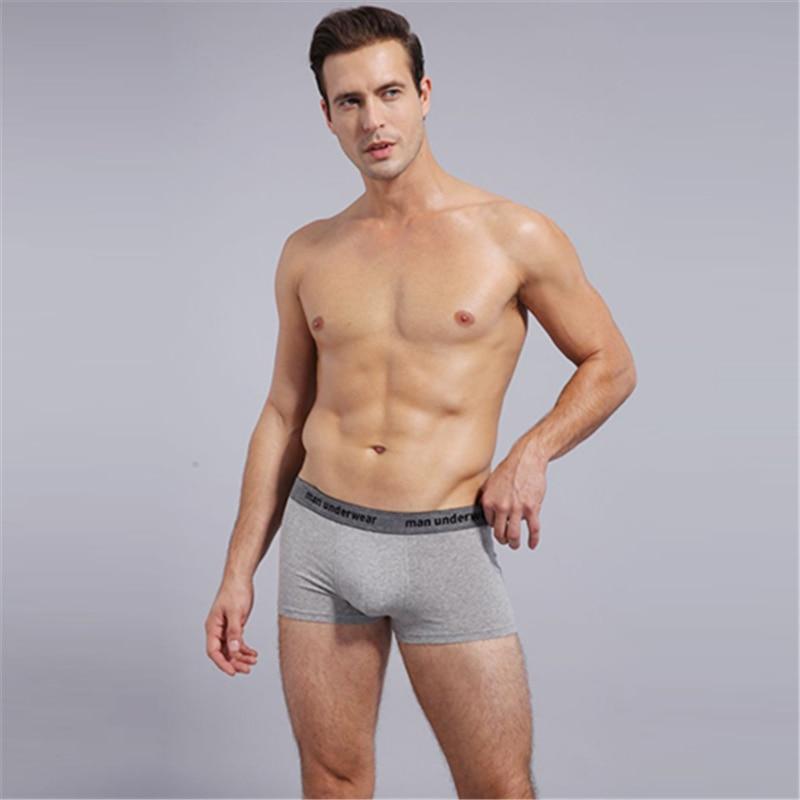 1pcs Shanboer Male Panties Cotton Men's Underwear Boxers Breathable Man Boxer Solid Underpants Comfortable Brand Shorts 604