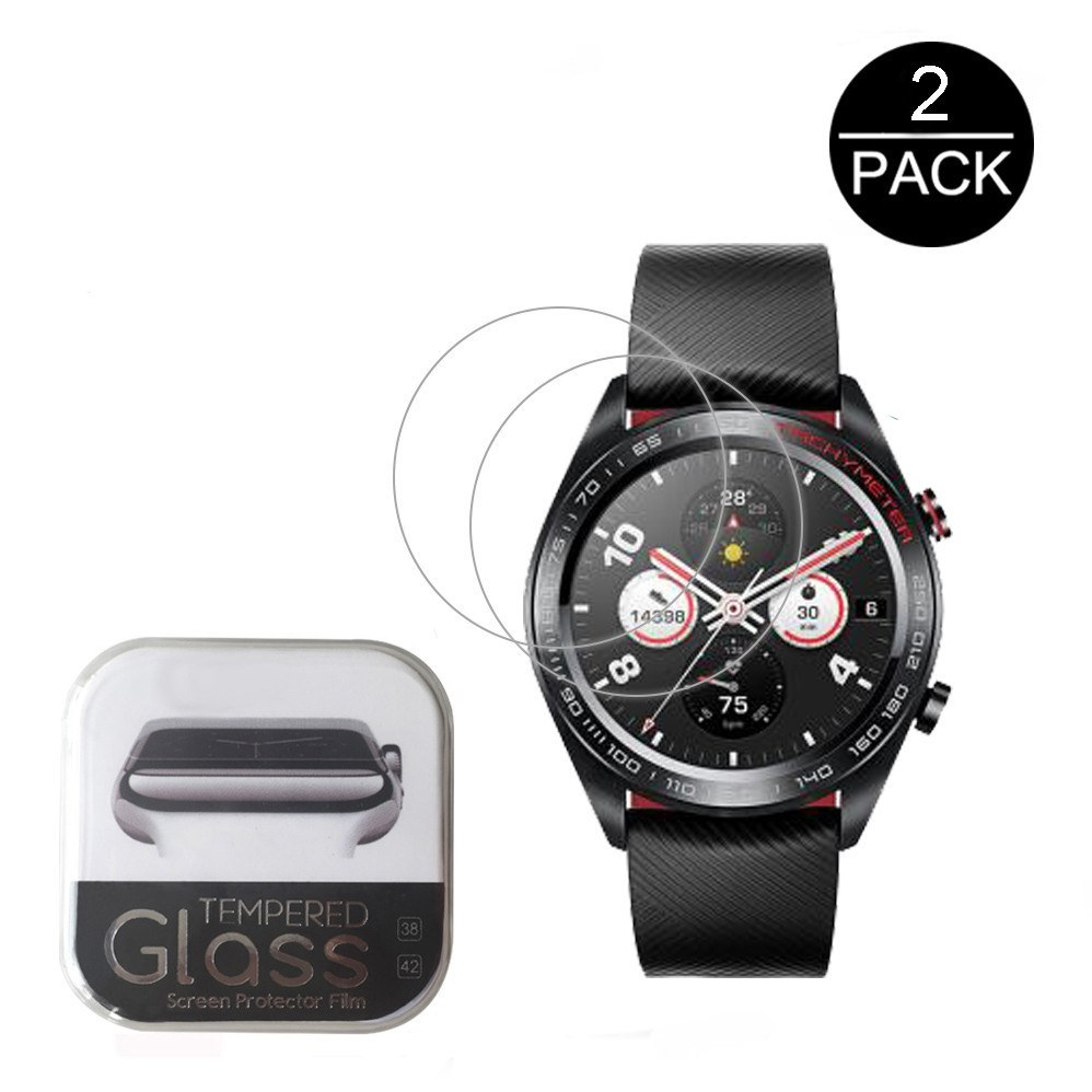 258c6f9721f 2Pack 0.3mm 2.5D Tempered Glass Screen Protector For Huawei Honor Watch  Magic Smartwatch Screen